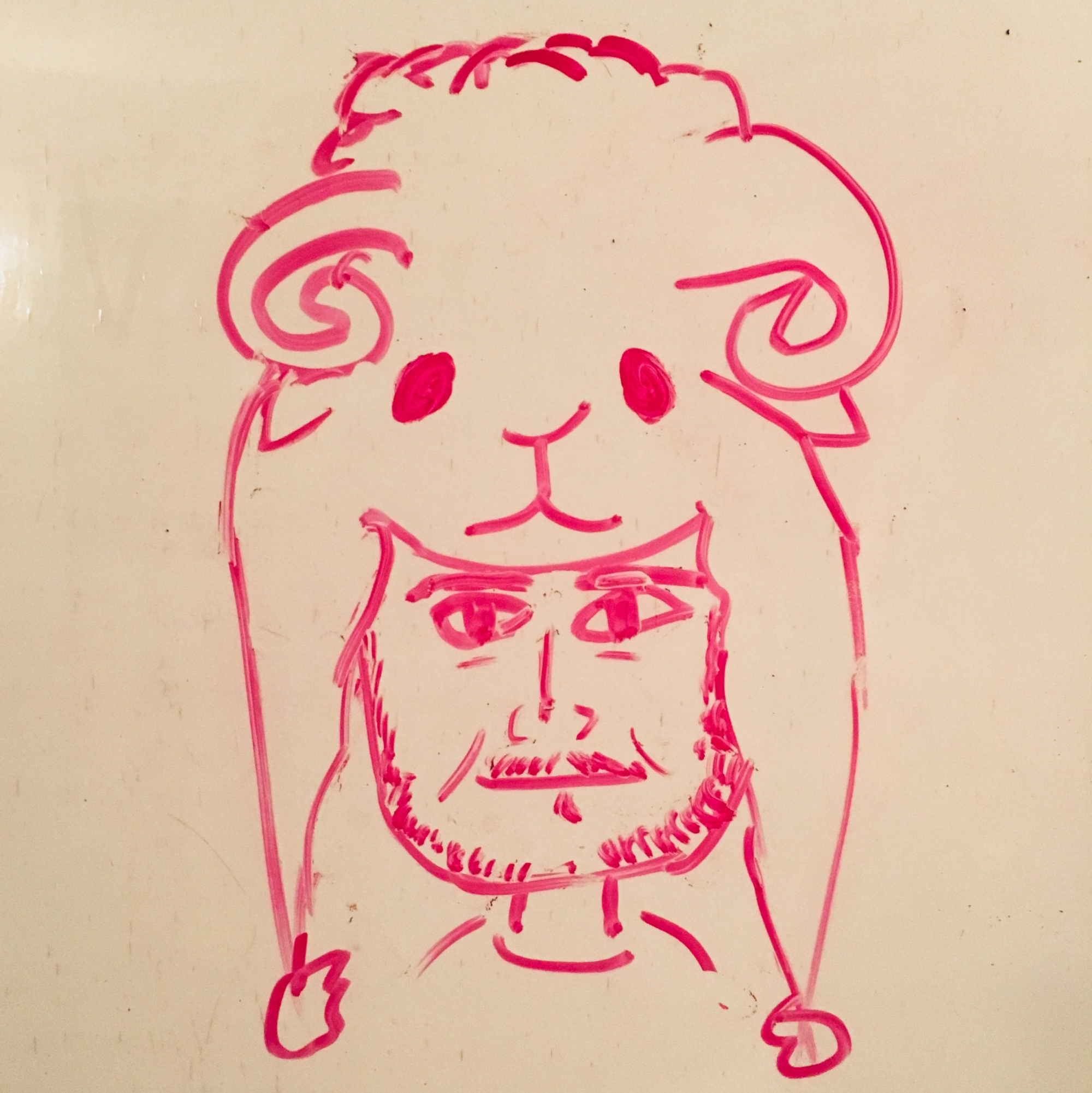 SELF-PORTRAIT WITH SHEEP HAT